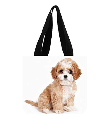 Cavapoo Dog Breed Custom Beautiful Canvas Tote Bag Art Print Twin Sides