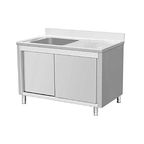 EQ Commercial Stainless Steel Sink 1 Bowl On Left 63