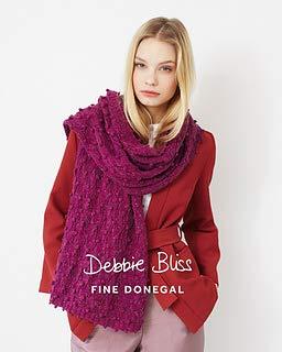 Debbie Bliss #025 Bobble & Lace Scarf Single Pattern