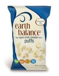 Earth Balance Vegan Aged White Cheddar Puffs, 4 Ounce (Pack of 12)