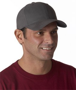 Yupoong Twill Hat (Yupoong Solid Brushed Constructed Cotton Twill Cap, dark grey, One Size)