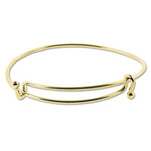 Adjustable Expandable Bangle Bracelet, Add a Charm, Gold Plate BRAC600GP