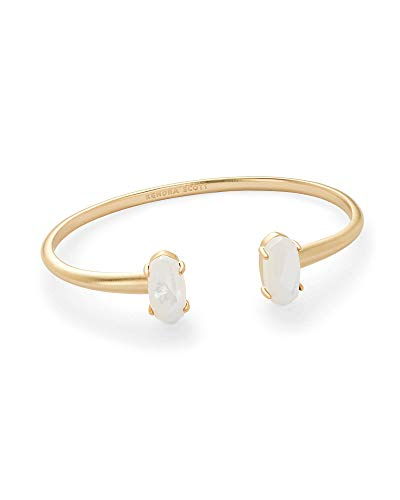 (Kendra Scott Edie Cuff Bracelet (Gold and Ivory Mother of Pearl))