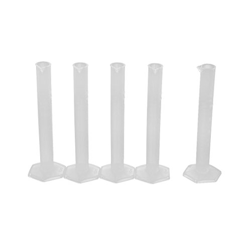 (Uxcell a16031400ux1488 10mL School Laboratory Liquid Volume Measuring Graduated Cylinder Clear 5pcs (Pack of)
