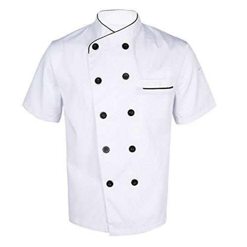 short sleeved chef coat - 7