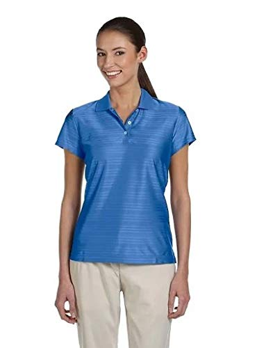 adidas Golf Womens Climacool Mesh Polo (A135) -Gulf/Navy -M (Climacool Textured Polo Golf Shirt)