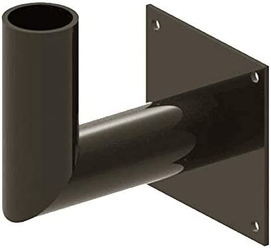 Bronze Wall Mount Tenon Bracket Adapter for Pole Lights with Slip Fitter