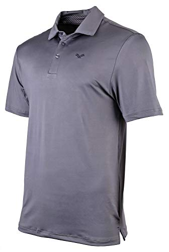 Urban Fox Men's Golf Shirts for Men | Short Sleeve Performance Polo Shirts for Men | Heather Dry Fit | Moisture Wicking | Charcoal Gray X-Large