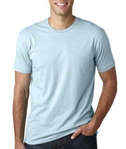 Next Level Mens Premium Fitted Short-Sleeve Crew T-Shirt - X-Large - Light Blue Blue Mens Fitted T-shirt