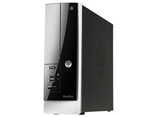 HP Pavilion Slimline Desktop PC - AMD E1-2500 (1.40 GHz) / 4GB Memory / 500GB Hard Drive / AMD Radeon HD 8240 / DVD±RW/CD-RW / Windows 8.1 64-bit (Hp 500 Desktop Computer)