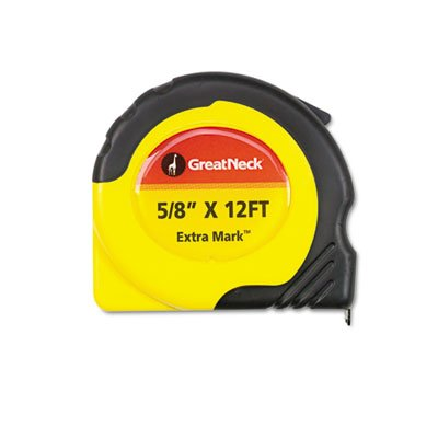 ExtraMark Power Tape, 5/8'''' x 12ft, Steel, Yellow/Black, Sold as 1 Each