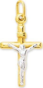 Robbez Masson - Mixte - Pendentif Or Croix Christ - Reference : 2786.2G