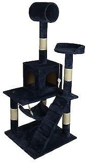 navy blue 57   cat tree tower condo scratcher furniture kitten house hammock 90 amazon     best choice products 52in faux fur cat tree tower      rh   amazon