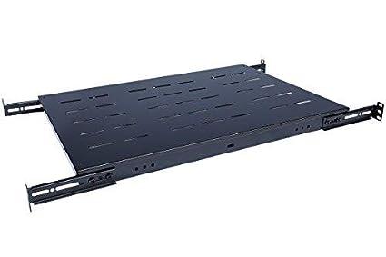 Fixed Rack Server Shelf 1U 19'' Shelves 4 Post Rack Mount Adjustable Deep For server Network rack (14''-20.5'' depth) Rising