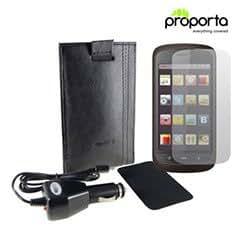 Proporta - Funda, cargador de coche y protector de pantalla para ZTE Skate