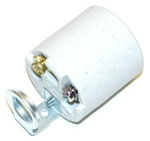 Westinghouse 22371 - Medium Base Porcelain Socket with 1/4-IP Hickey (MED. BASE PORCELAIN SOCKT 1/4-IP HICKEY) Medium Base Light Socket