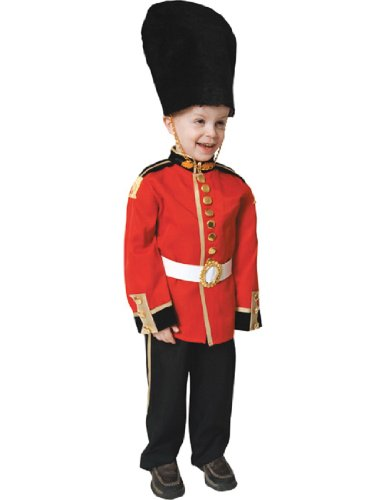 Children's Red & Black Royal Guard Complete Costume - Size Small (4-6) (Halloween Costumes In London)
