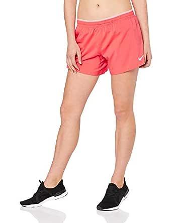 "Nike Australia Women's Elevate 5"" Running Shorts, Ember Glow/Pink Gaze/Reflective Silver, S"