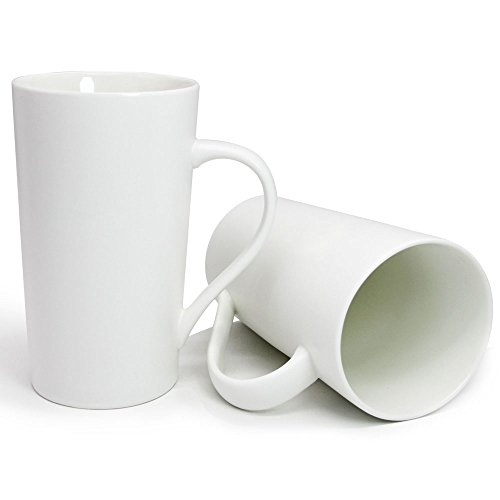 White 20 Ounce Ceramic - 1