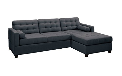 Canyon Sofa Sets - Poundex PDEX-F7587 Sofas, Slate Black
