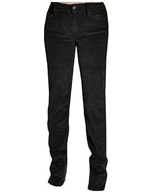 Womens Power Stretch Straight Leg Slim Fit Corduroy Pants (2x30)