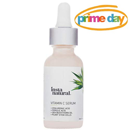 - InstaNatural Vitamin C Serum with Hyaluronic Acid & Vit E - Natural & Organic Anti Wrinkle Reducer Formula for Face - Dark Circle, Fine Line & Sun Damage Corrector - Restore & Boost Collagen - 1 oz