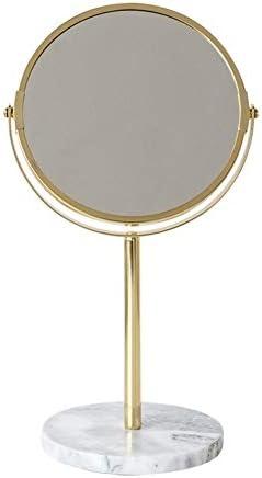360と両面メイクアップミラー卓上ミラーゴールド+大理石の化粧鏡°回転最高のクリスマスギフト