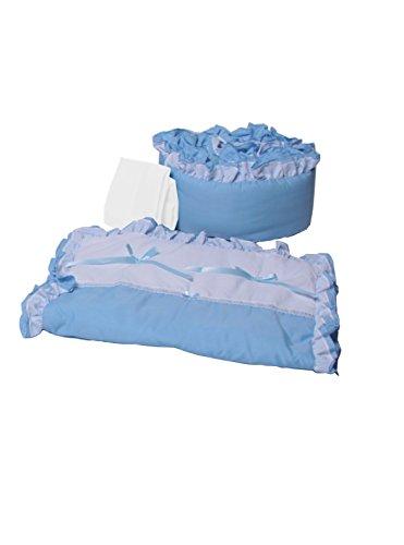 Baby Doll Bedding Regal Cradle Bedding Set, Blue