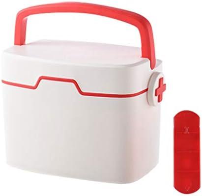 家庭用薬箱 救急箱 多層大容量 収納ボックス 救急 医療用 薬入れ 小物入れ 道具箱 応急処置 収納 収納ケース ボックス ケース 多機能 取り出し 持ち運び便利 28.5x18x19.8cm レッド グリーン