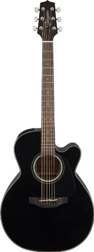 Takamine GN30CE-BLK Nex Cutaway Acoustic-Electric Guitar, Black by Takamine