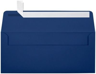 #10 Square Flap Envelopes w/Peel & Press (4 1/8 x 9 1/2) - Navy Blue (50 Qty.)| Perfect for Special Occasions and (10 Envelopes Square)