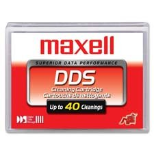 Maxell 4mm DDS Cleaning Data Tape (Maxell 186990 Cleaning Cartridge) from MAXELL CORP. OF AMERICA
