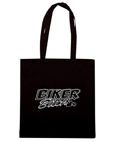 BIKER Shopper TB0030 Nera Borsa BITCH Speed Shirt HO4qXn4P
