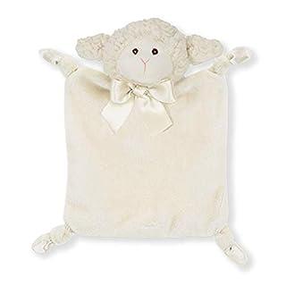 "Bearington Baby Wee Lamby, Small Lamb Stuffed Animal Lovey Security Blanket, 8"" x 7"""