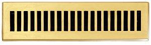 (Brass Elegans 116B PLB Solid Cast Brass Contemporary 2-1/4-Inch by 12-Inch Floor Register, Polished Brass Finish Model)