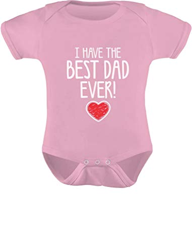 Tstars I Have The Best DAD Ever Cute Infant Baby Boy/Girl Bodysuit Newborn Pink (Day Twin Onsies Valentines)