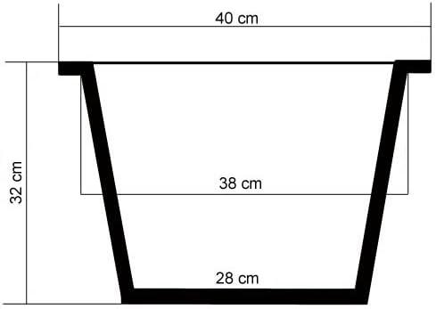 Casa Mina Polyrattan Blumenk/übel /Übert/öpfe Pflanzk/übel Java braun 47x47x47cm