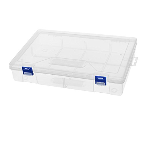 uxcell PP Plastic Clear Detachable Component Storage Organizer Case Box for Fishing Tackle Hand Tool by uxcell
