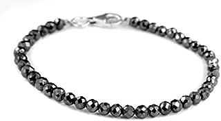 6mm Black Diamond braccialetto, regalo per partner, regalo per fidanzati, regalo di anniversario, regalo di compleanno