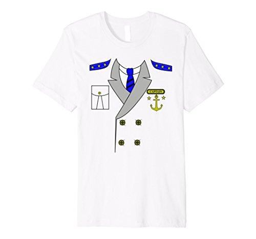 Boat Captain Uniform Costume T-Shirt | Halloween Shirt