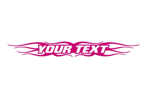 Sticky Creations - Design #121 Your Custom Text Personalized Customized Lettering Flame Tribal Windshield Decal Sticker Vinyl Graphic Rear Window Banner Car Truck SUV   36