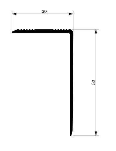 Top Treppenkantenprofil   ungebohrt-selbstklebend selbstklebend Montageset in 6 Eloxalfarben gebohrt inkl , bronze 30 x 52 x 1180 mm ungebohrt 15,57/€//m Treppenwinkel 30 x 52 mm