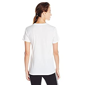 adidas Women's Training Ultimate Short Sleeve V-Neck Tee, White/Black, Small
