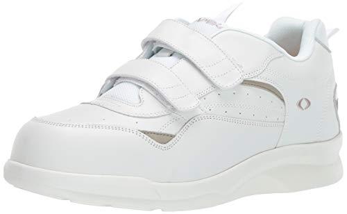 Apex Men's Double Strap Active Walkers-Biomechanical Sneaker, White, 8 XW US