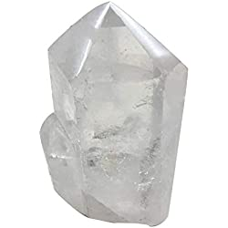 """AMOYSTONE Natural Clear Quartz Crystal Pillar 6 Sided Prism Style Stone Small 1-2lb About 4-5"""""""