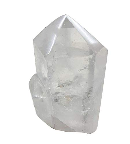 (AMOYSTONE Natural Clear Quartz Crystal Pillar 6 Sided Prism Style Stone Small 1-2lb About 4-5