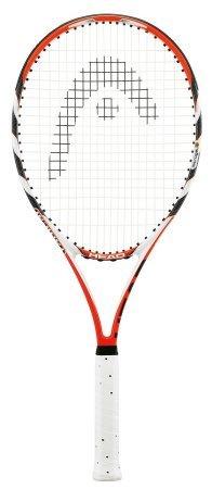 HEAD MicroGel Radical MP Tennis Racquet, Strung, 4 3/8 Inch Grip