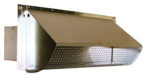 Metal Rectangular Wall Vent - Damper & Screen (RA 310S )