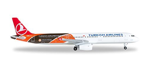 Herpa Wings 1 500 A321 Turkish Airlines Euroleague Tc Jro