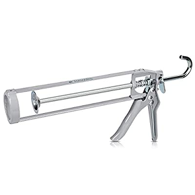 "Navaris Skeleton Caulking Gun - 310 ml Tube of Silicone, Glue Sealant 9"" Gun - BASIC"